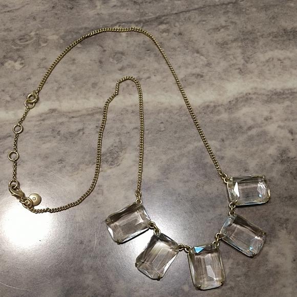 J. Crew Jewelry - J. Crew emerald cut clear gemstone necklace